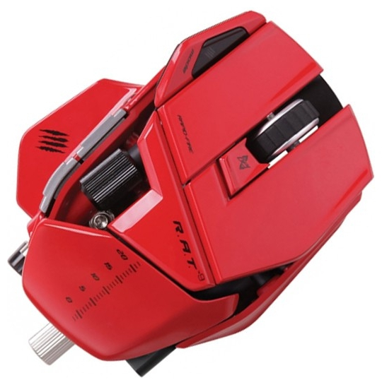 Mad catz rat9 wireless gaming mouse red